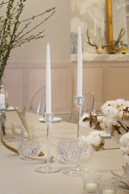 Candlestick - Contemporary Slender Glass