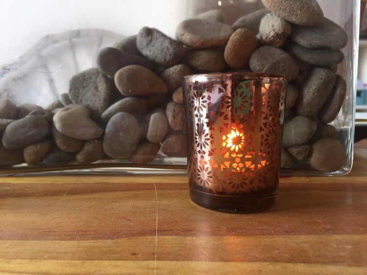 Amber & Copper Lace Votives