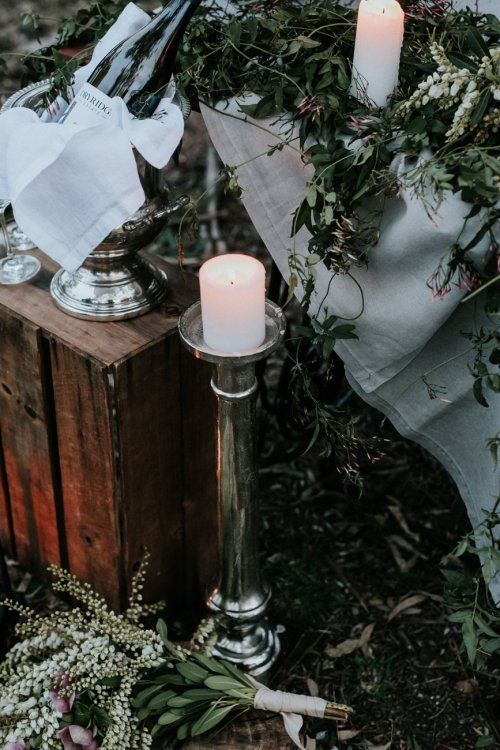 Tall Silver Pewter Candle Holders
