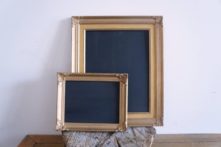 Small Vintage Gold Frame with Chalkboard