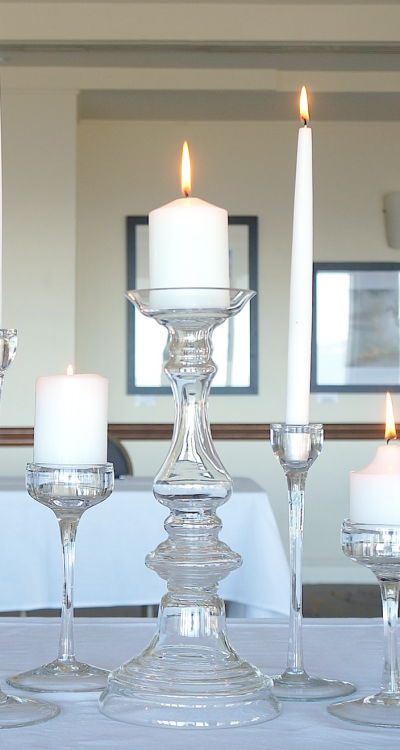 Candlestick - 'The Oscar' Hollow Stemmed Glass - Large