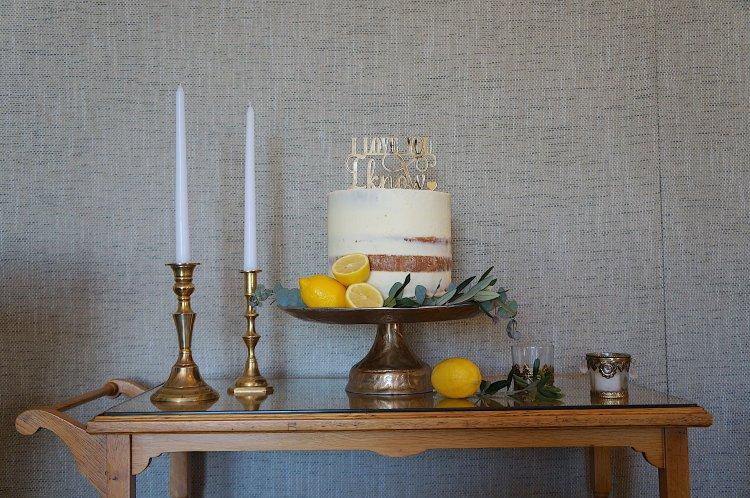 Cake Stand - Beaten Gold