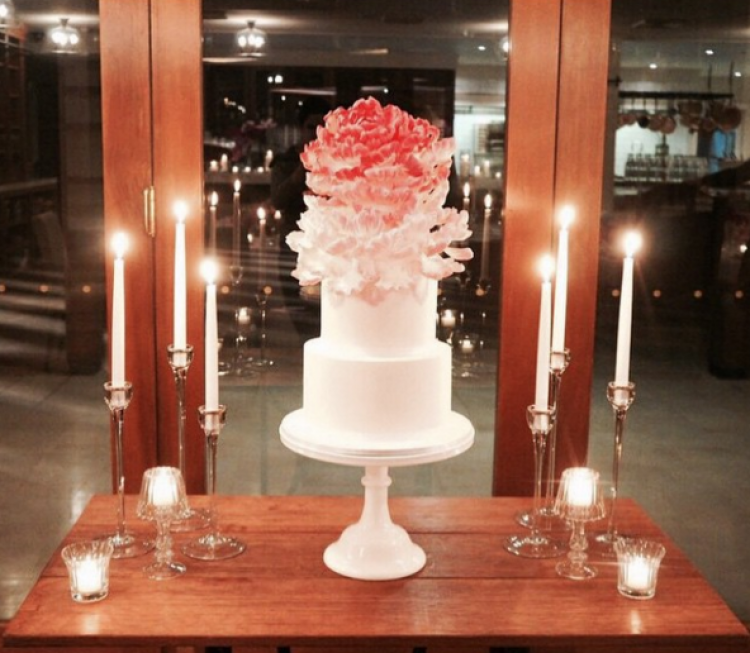 White Milk Cake Stand 27cm