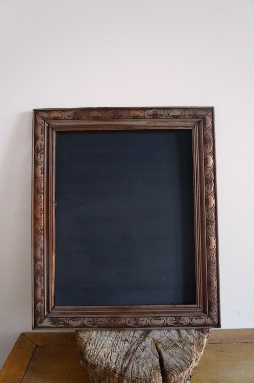 Medium Vintage Timber Chalkboard with Carved Detail