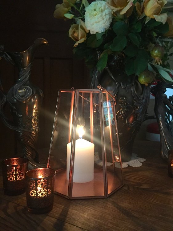 Lantern - Contemporary Copper Faceted