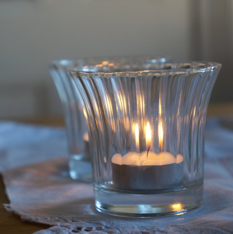 Glass Ribbed Votives