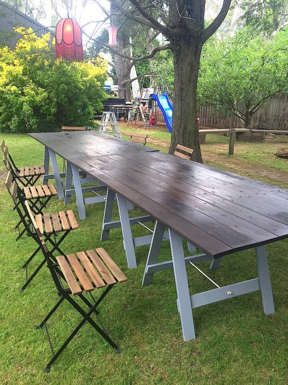 Timber Topped Trestle Tables