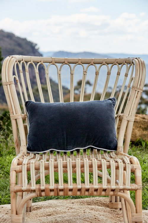 Cushion - Midnight Velvet lumbar