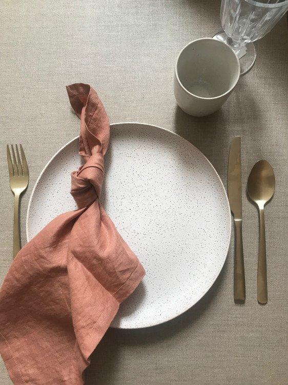 Napkin - Dusky Terracotta Pure Linen