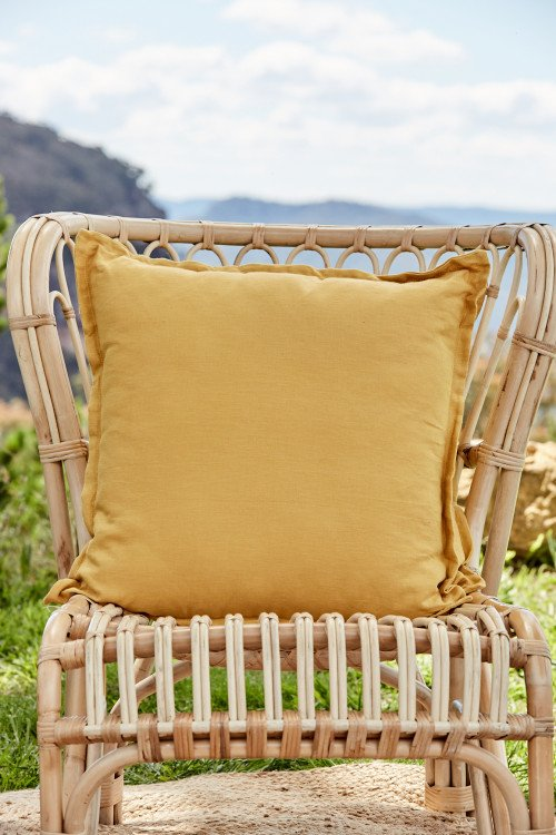 Cushion - Sunflower Cotton Linen Blend