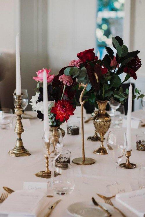 Vase - Brass Vintage Assorted Size & Styles