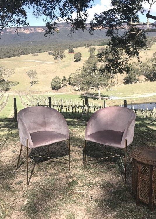 Arm Chair - Dusky Pink Velvet