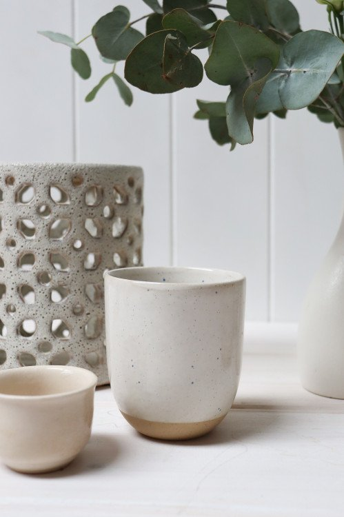 Votives - Tall Natural White Stoneware