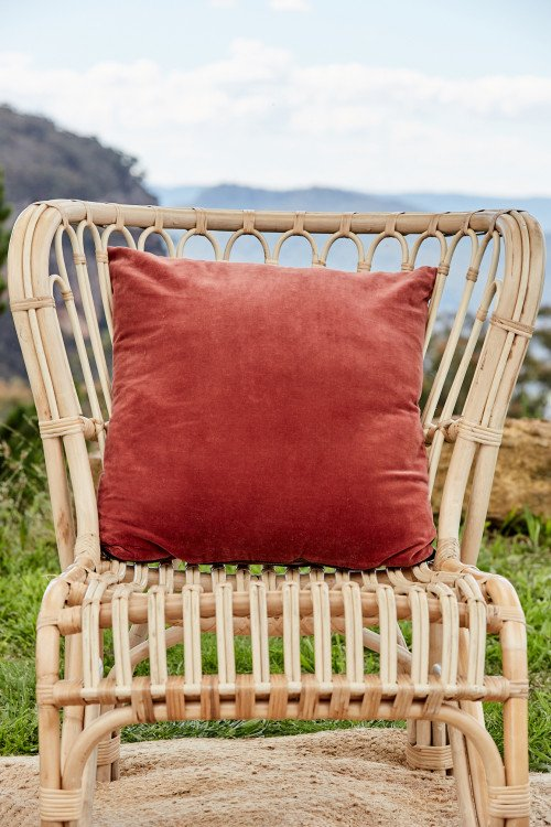 Cushion - Rust Luxe Velvet