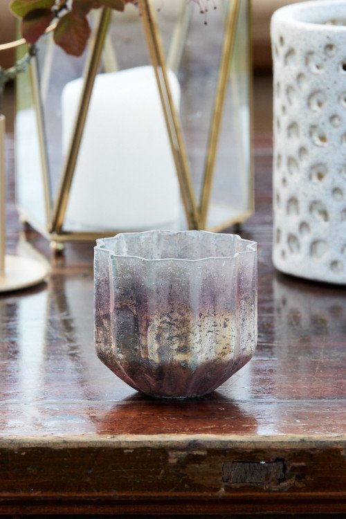 Votive - Gold Splash Contemporary