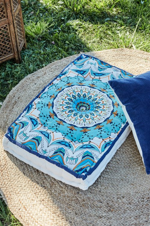 Cushion - Boho Blue Floor