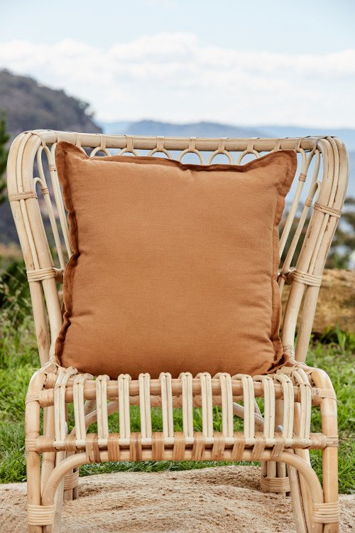 Cushion - Caramel Linen
