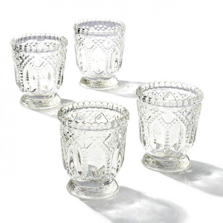 Votive - Crystal Vintage Pressed Glass